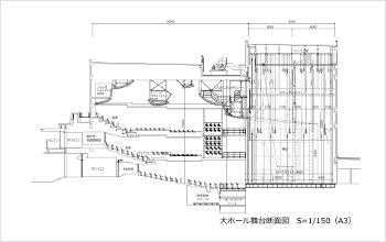 大ホール舞台断面図